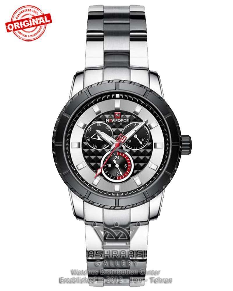 ساعت اورجینال تمام فلزی نوی فورس Naviforce NF9145M