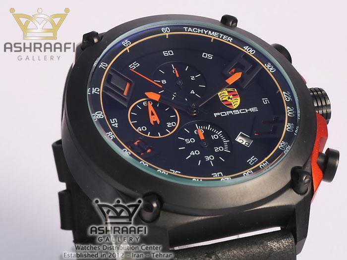 ساعت مشکی نارنجی پورشه Porsche JP-24056MB65