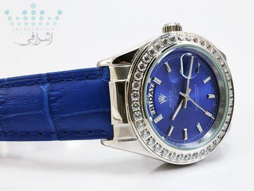 ساعت رولکس زنانه نگین دار مدل DateJust 1623-05