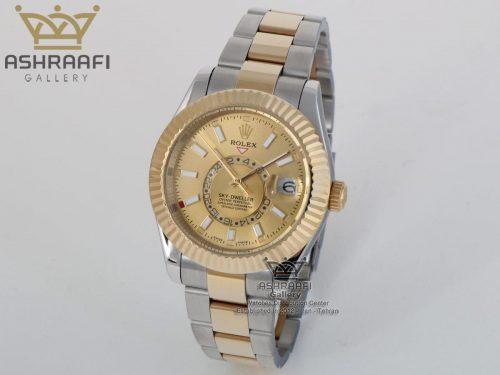 فروش ساعت اسکای دو رنگ ROLEX Sky Dweller SGG1