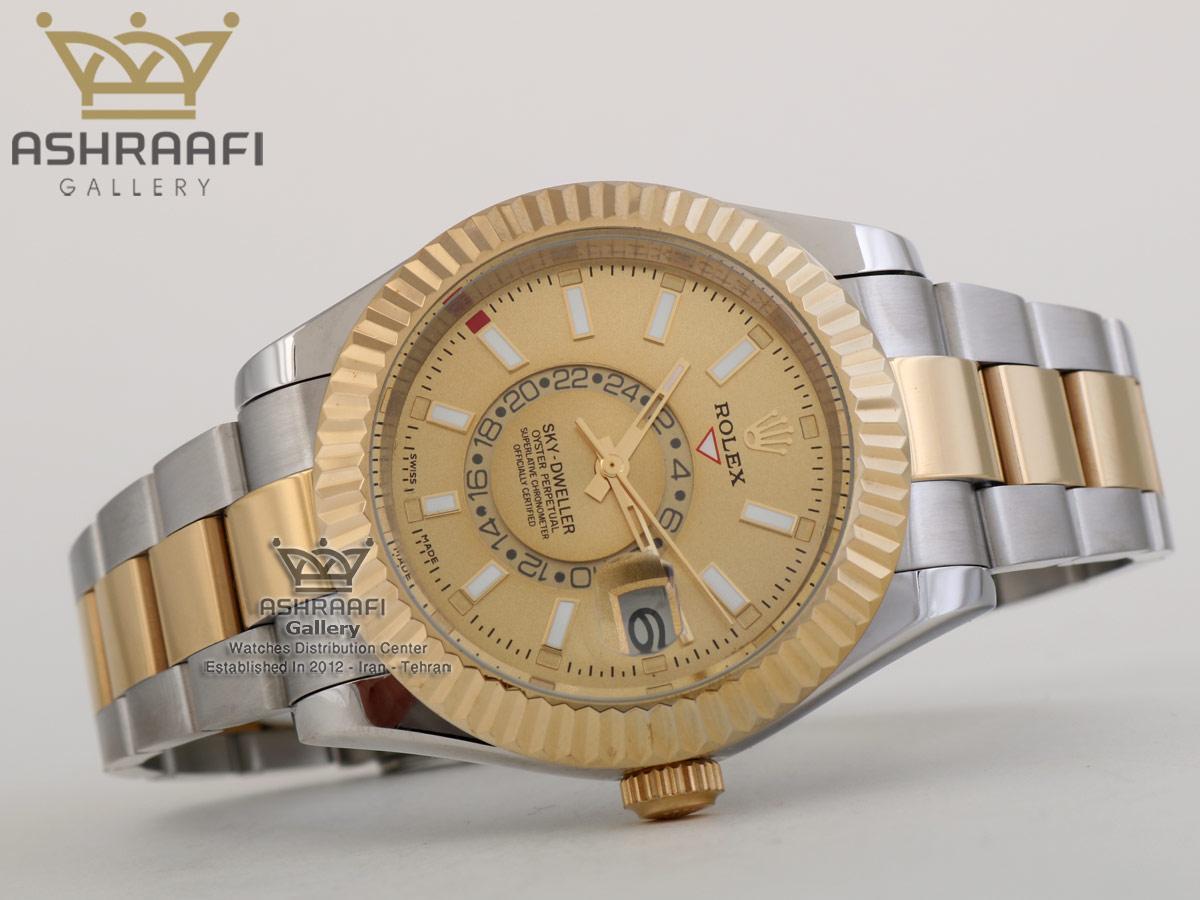 ساعت دو رنگ طلایی اسکای رولکس ROLEX Sky Dweller SGG1