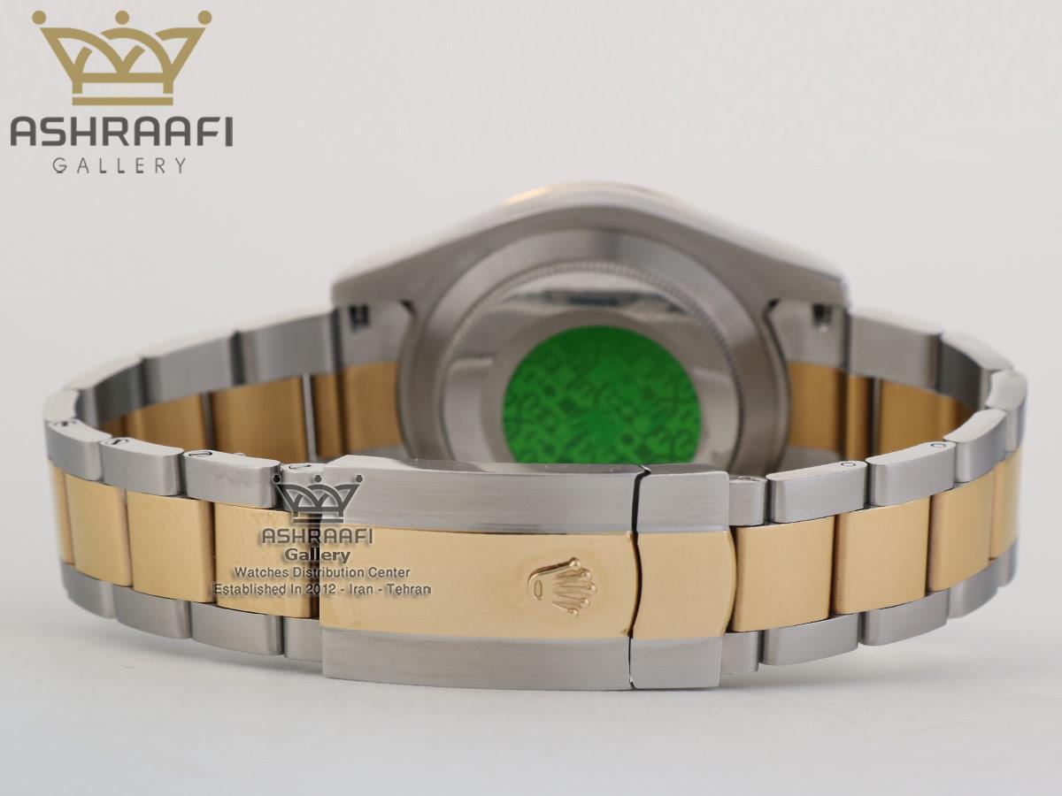 قفل اصلی ساعت های کپی اسکای صفحه طلایی ROLEX Sky Dweller SGG1