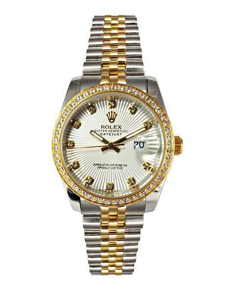 ساعت رولکس دیت جاست نگین دار - Rolex-DateJust-16234-02