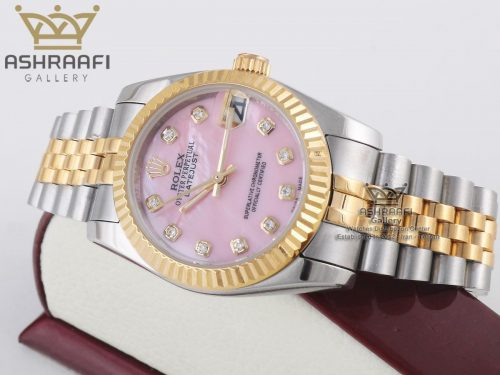 ساعت صفحه صورتی Rolex DateJust PN1