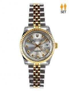 ساعت مچی ست زنانه و مردانه رولکس مدل دیت جاست دو رنگ طلایی و استیل Rolex Datejust-03
