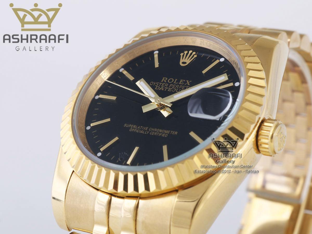 ساعت طلایی صفحه مشکی رولکس Rolex Datejust-04