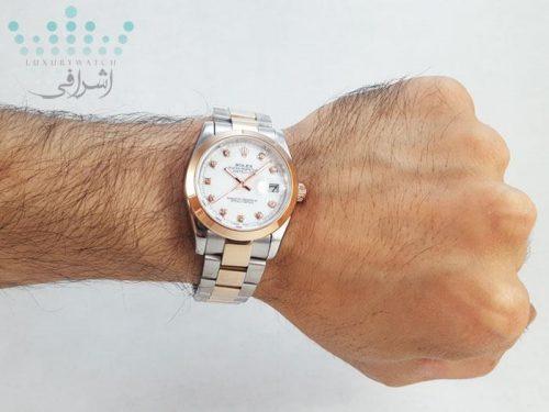 عکس روی دست ساعت رزگلد دیجاست