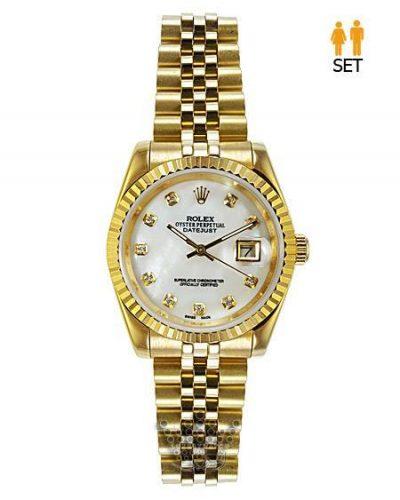 ساعت رولکس دیجاست تمام طلایی - دارای ست زنانه و مردانه Rolex Datejust-G1