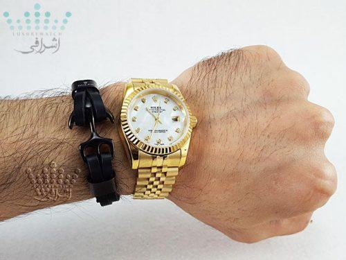 عکس روی دست ساعت تمام طلایی رولکس دیجاست Rolex Datejust-G1