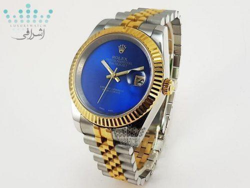 ساعت صفحه آبی رولکس Rolex Datejust GR4