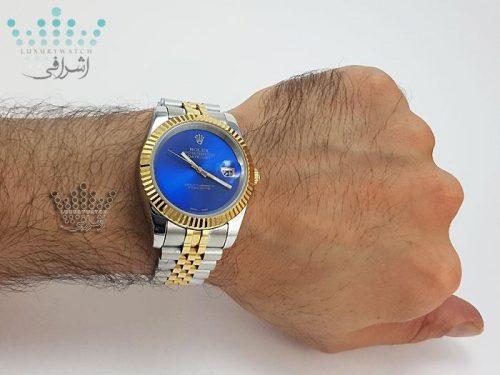 تصویر روی مچ ساعت بدون اندکس Rolex Datejust GR4
