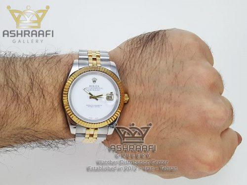 عکس روی مچ ساعت Rolex Datejust GRW5