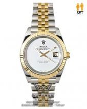 ساعت رولکس ست زنانه و مردانه صفحه سفید Rolex Datejust GRW5