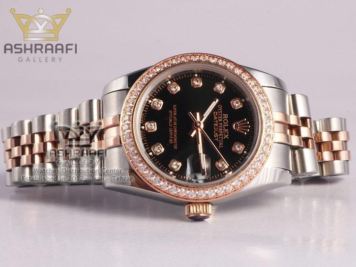 ساعت نگین دار زنانه Rolex Datejust NM4