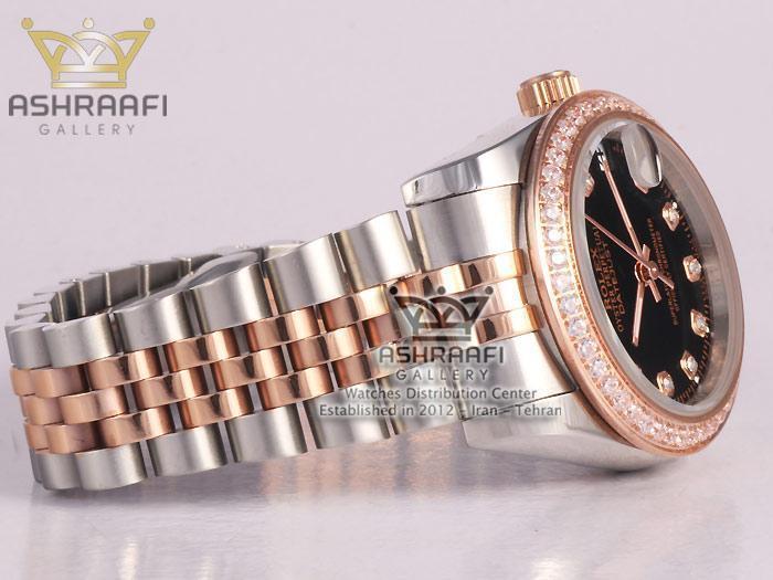 ساعت رولکس صفحه مشکی زنانه Rolex Datejust NM4
