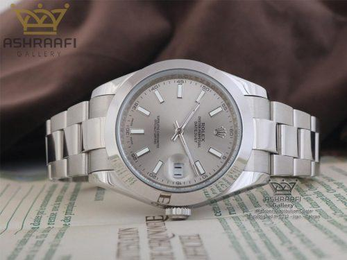 ساعت صفحه خاکستری Rolex Oyster Perpetual G11