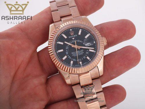 عکس روی دست ساعت Rolex Sky Dweller RB1