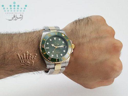 عکس روی مچ ساعت Rolex Submarriner-G