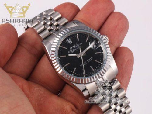 ساعت دیجاست رولکس صفحه مشکی Rolex datejust SB2
