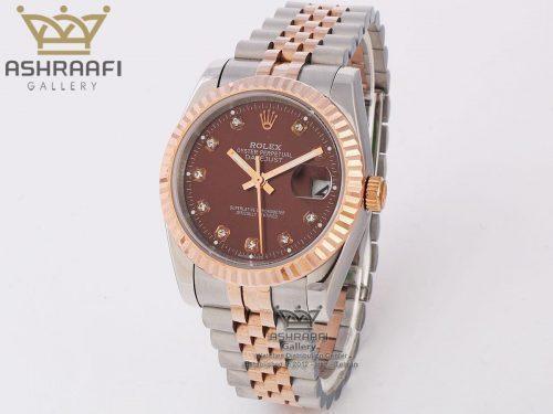 ساعت صفحه قهوه ای رولکس Rolex datejust Sh2C