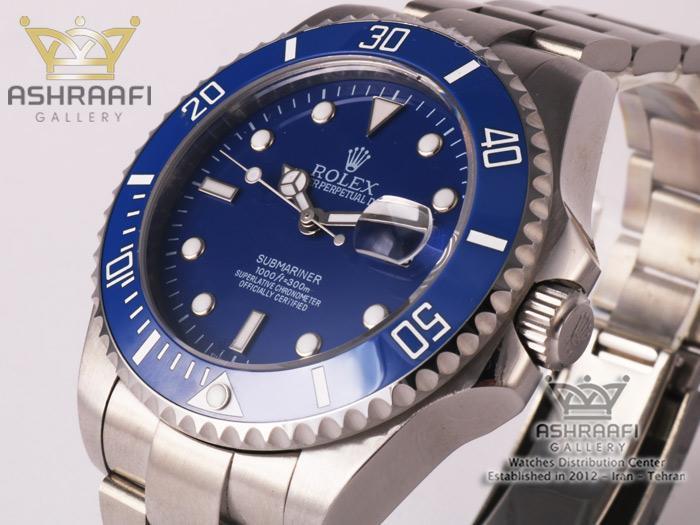 رولکس ساب مارینر صفحه آبی Rolex submariner bS1