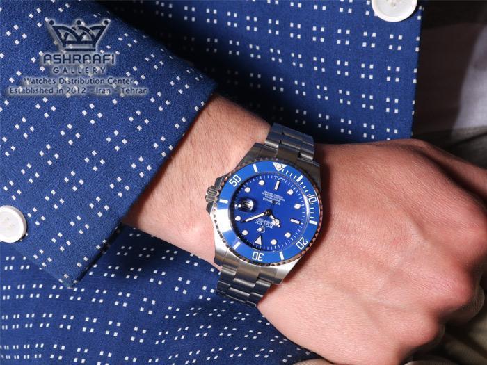 نمای روی دست ساعت Rolex submariner bS1