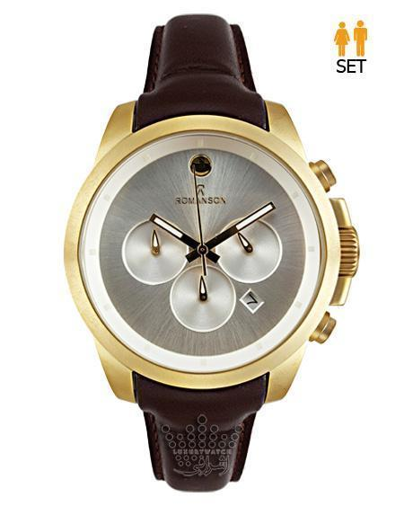 ساعت طلایی و رنگ مات رومانسون سه موتوره Romanson 16020G