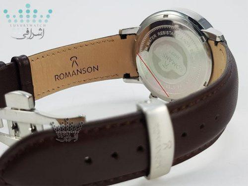 ساعت بند قهوه ایRomanson 16072GS