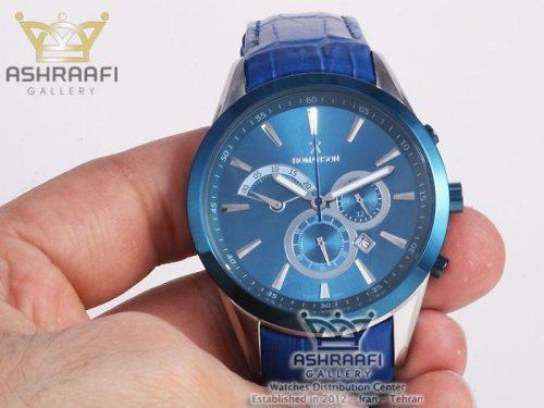 ساعت استیل و سرامیک آبی رنگ Romanson 212GB