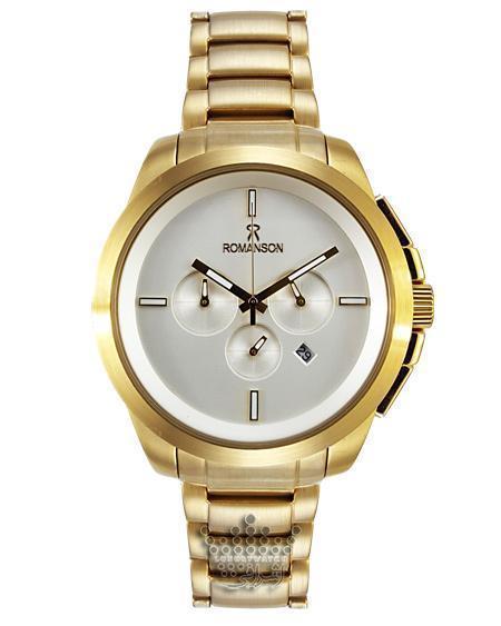 ساعت تمام استیل طلایی رنگ رومانسون مدل 360 جی