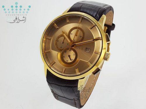 ساعت جفت طلایی قهوه ای رنگ رومانسون - Romanson S1266G