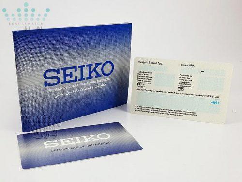 دفترچه و کارت گارانتی اینترنشنال ساعت seiko-snk563j1-08