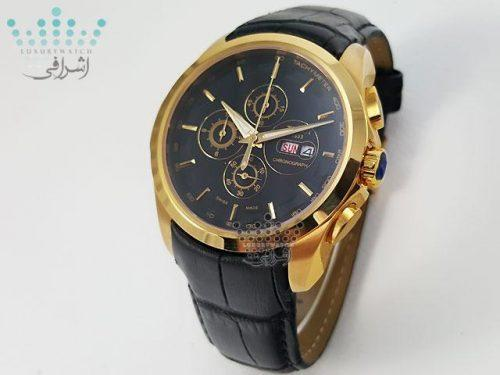 ساعت مردانه تیسوت بند چرم مشکی TISSOT T032527A-KG