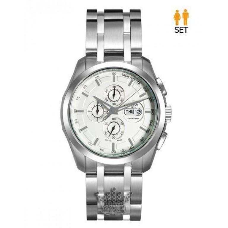 ساعت بند فلزی تیسوت صفحه سفید TISSOT T035627W