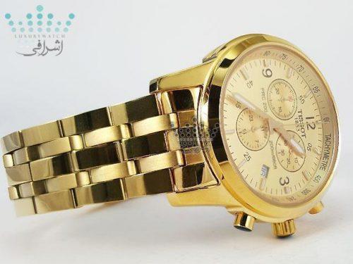 ساعت مردانه طلایی تیسوت Tissot PRC200-t017G