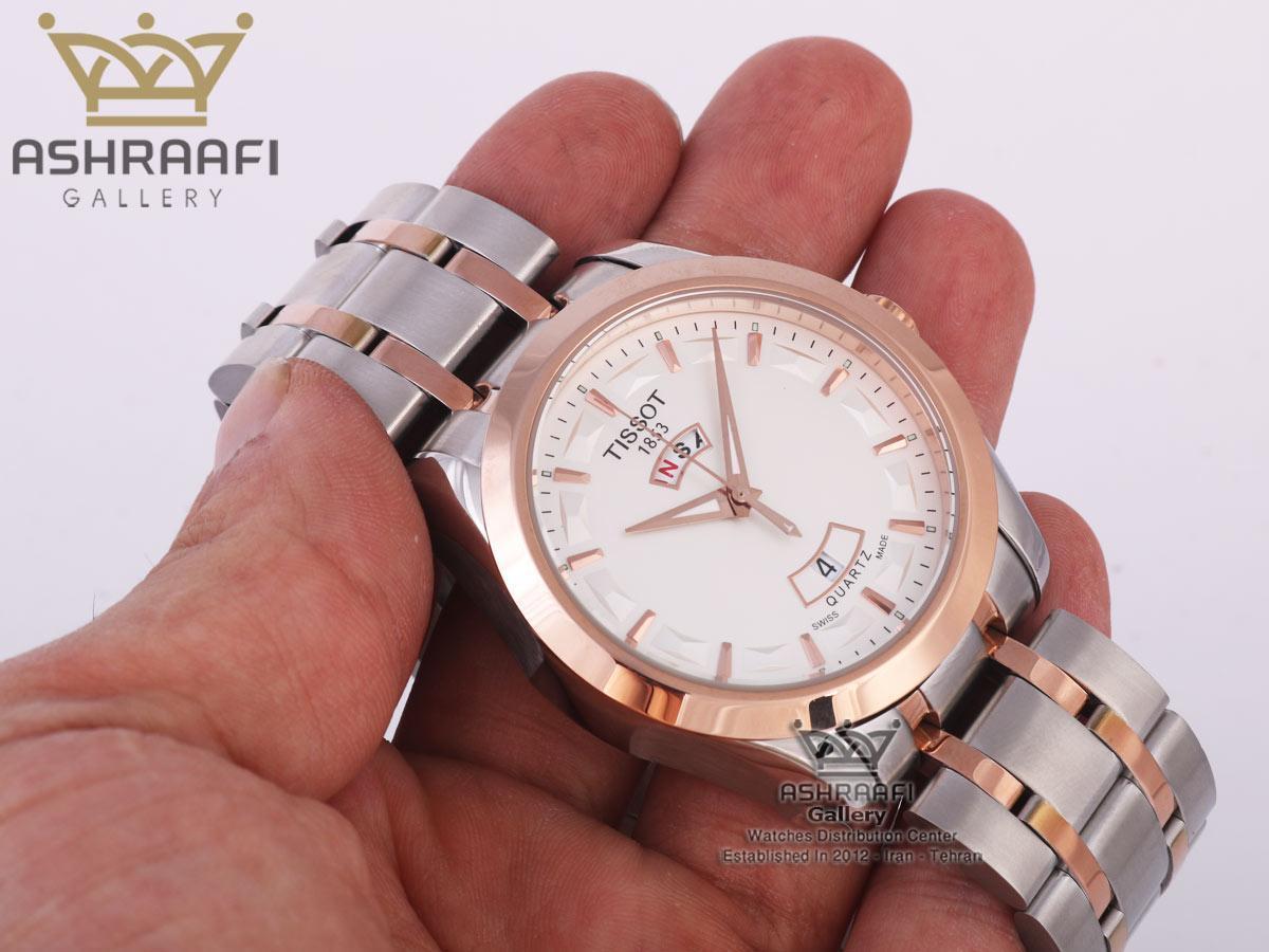 تصویر روی دست ساعت تمام فلزی تیسوت Tissot T035.407