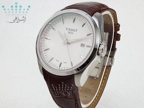 ساعت تیسوت صفحه سفید قاب استیل Tissot T035627B