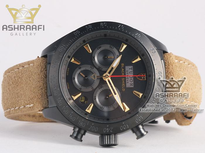 ساعت مشکی رنگ تودور Tudor Black Shield-B4