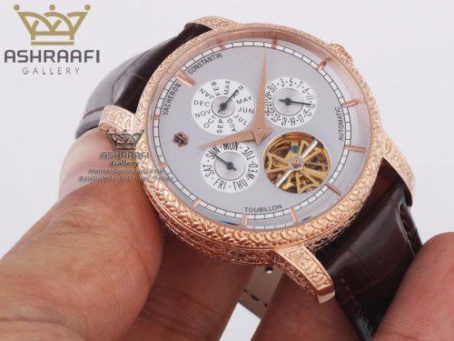 ساعت بدنه مسی کنده کاری شده Vacheron Constantin 88172B