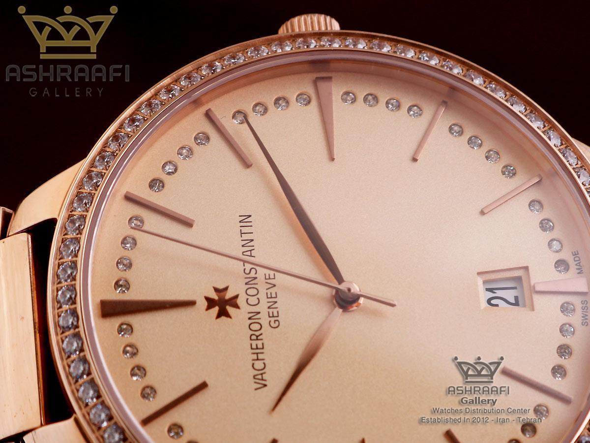 ساعت مردانه نگین دار واشرون Vacheron Constantin S32