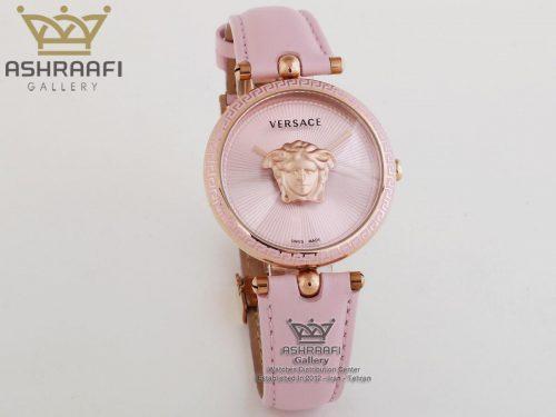 ساعت صورتی رنگ زنانه ورساچه Versace Palazzo VCO12