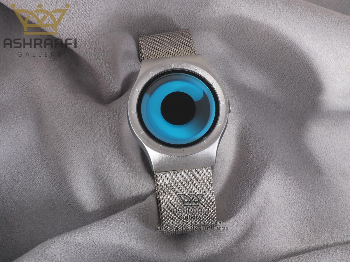 ساعت تمام نقره ای و صفحه آبی زیرو جیوه ای Ziiiro Mercury 8M