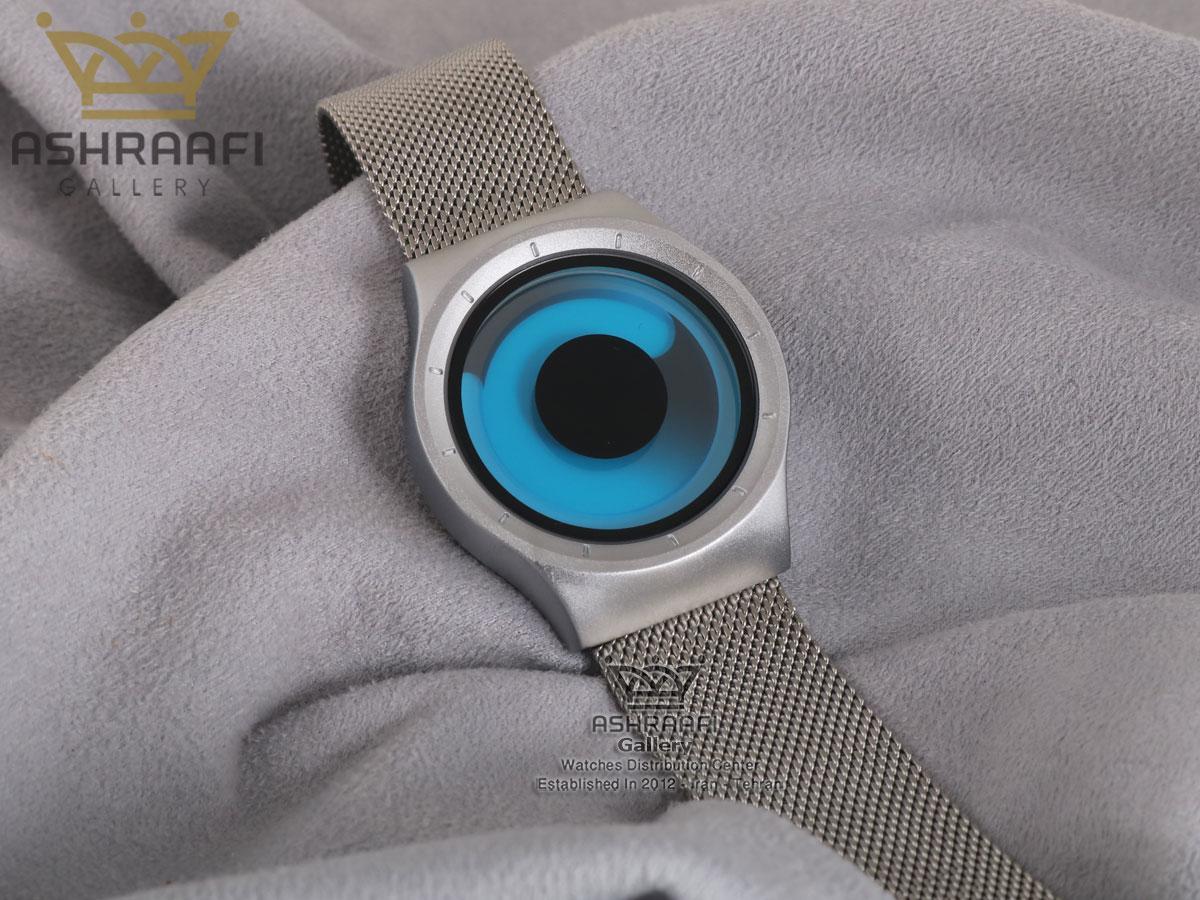 فروش ساعت تمام نقره ای و صفحه آبی زیرو جیوه ای Ziiiro Mercury 8M