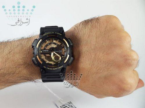نمای روی دست ساعت کاسیو aeq-110bw-9avdf