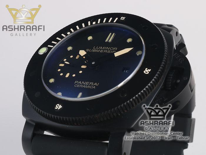 ساعت تمام مشکی رنگ panerai submersible SB3